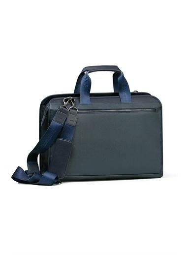 Deri Company Erkek Basic Evrak Çantası Floater Desenli (6622L) 116018 Lacivert